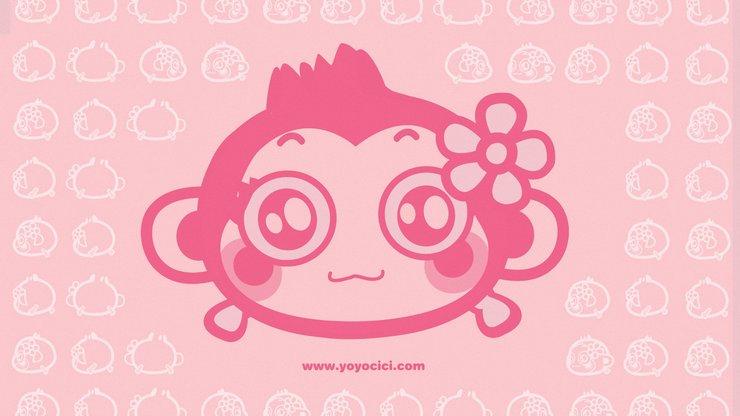 猴 可爱背景图片 宽屏