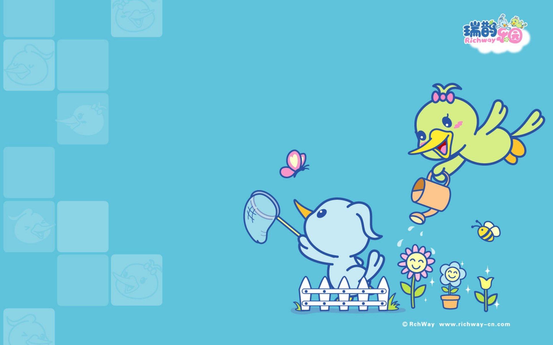 android安卓瑞鹊乐园 卡通 可爱高清手机壁纸免费下载