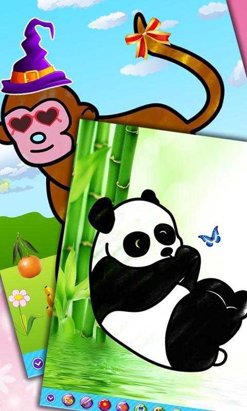 儿童画画填色涂鸦:动物