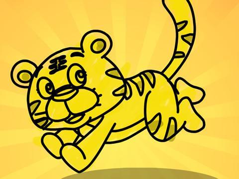 儿童简画老虎图片图片 画老虎图片 铅笔,老虎怎么画图片