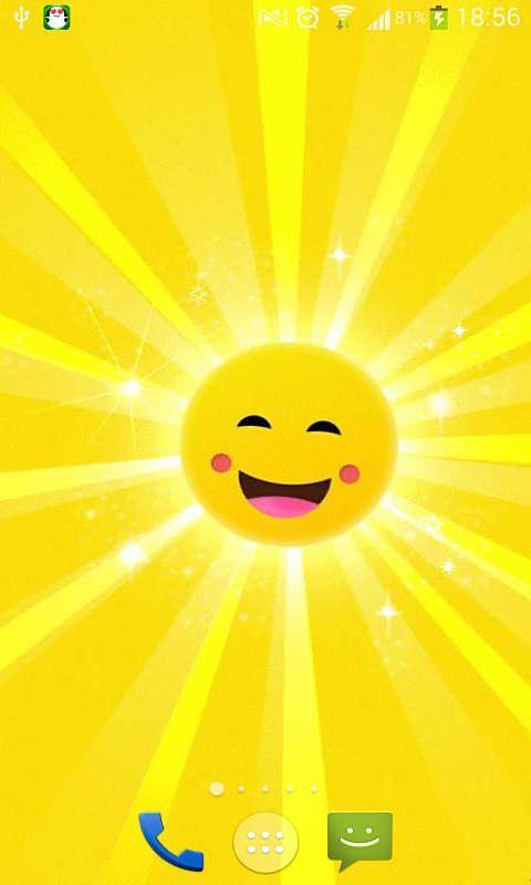 微笑的太阳-动态壁纸_360手机助手