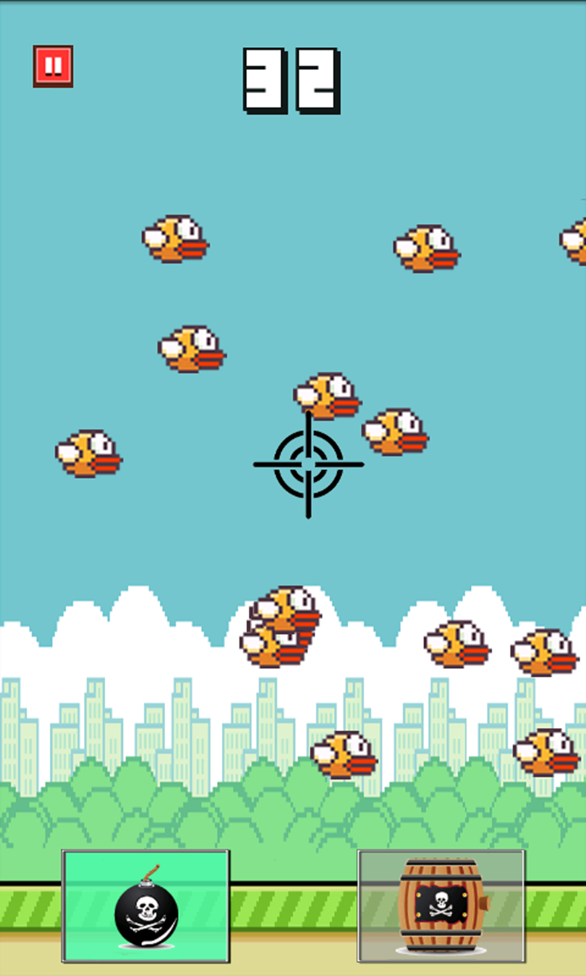 """游戏 休闲益智 >飞翔射击  """"像素鸟(flappy bird)""""大家都玩过吗?"""