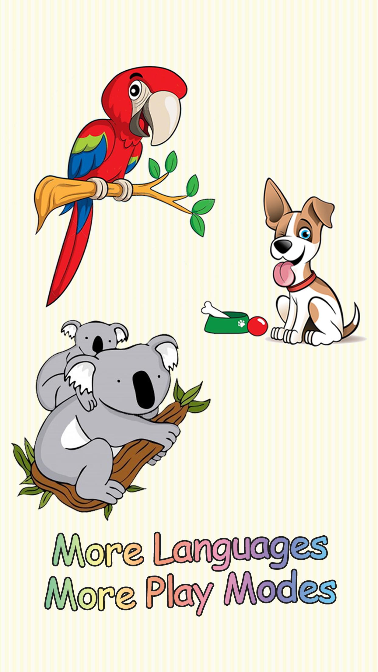卡通动物这个卡片应用适合所有喜欢动物的小朋友玩。 1 这里有很多小朋友喜欢的小动物可爱的样子和他们的叫声. 2 每一张卡片的声音,都可以由家长和小朋友自己来录制.让你的卡片变得与众不同! 3 新版还增加了 听声音找动物 的小游戏.小朋友将在游戏中学到知识并且受到鼓励. 4 新版支持更多的语言,包括:英语,简体中文,繁体中文,西班牙文.