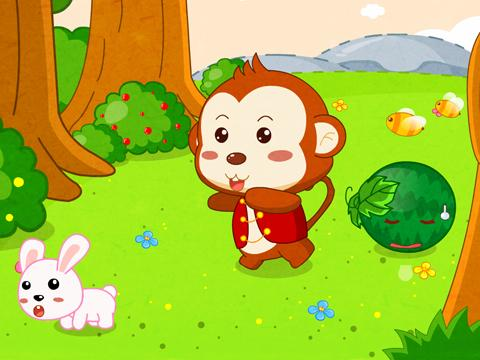 猴子吃桃子卡通图片《猴子吃桃子简笔画《猴子吃桃子