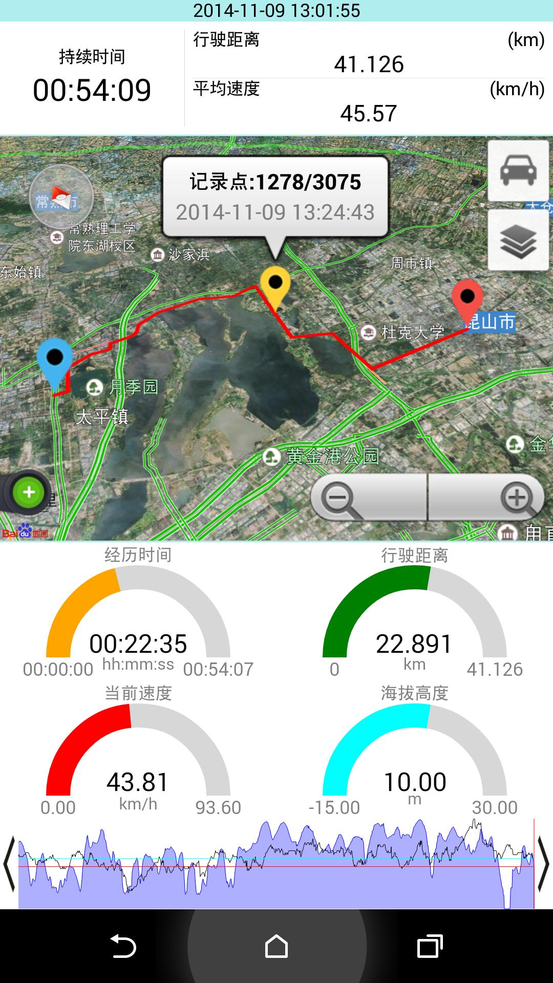 GPS仪表盘截图5