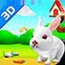 小兔子3D壁纸