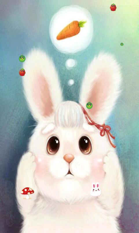 兔子的胡萝卜-绿豆动态壁纸
