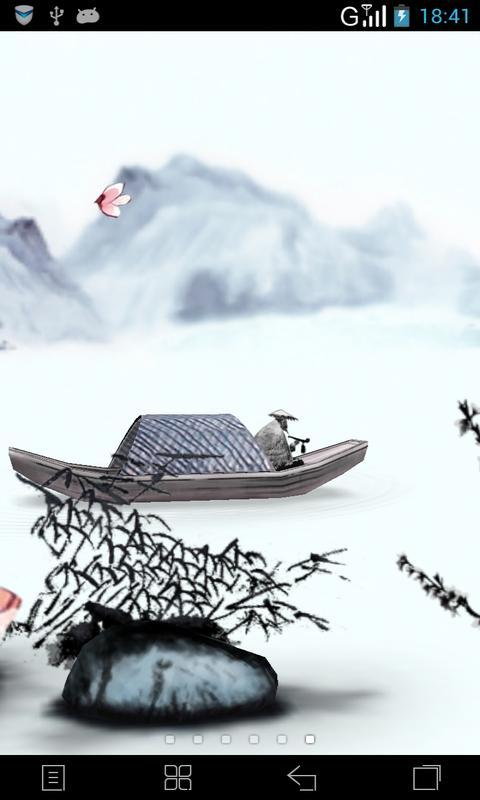 1 语言: 中文 内容介绍 3d水墨山水-中国风梦象动态壁纸可以左右滑动