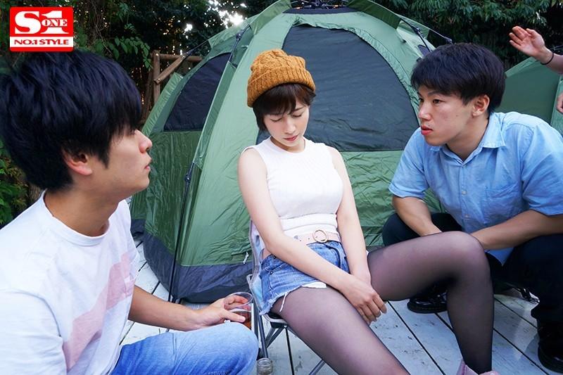 妻子奥田咲露营酒后认错老公被男同事合伙欺负插图