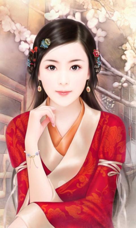 手绘古代美女高清动态壁纸