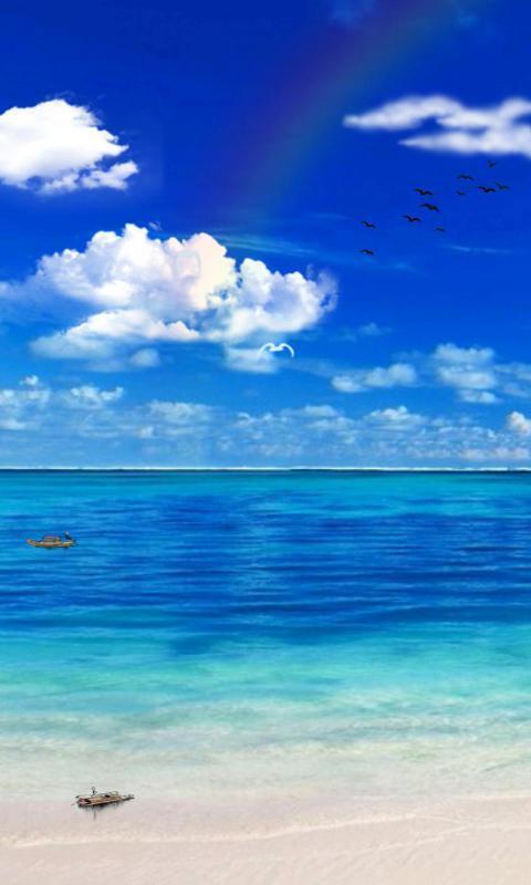 碧海蓝天是由绿豆动态壁纸diy出品的一款唯美风景动