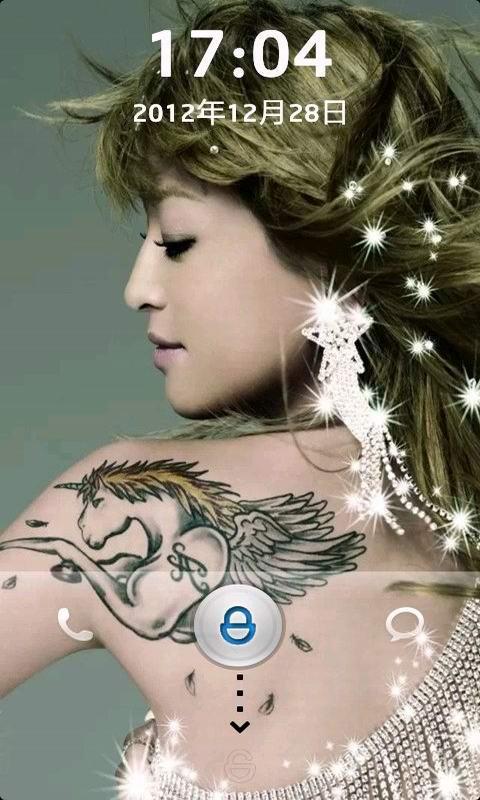 安卓炫酷刺青动态锁屏是以精美非主流刺青纹身图片作为